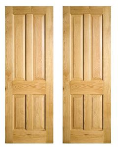 Four Panel solid Oak Doors. In stock at Venables Brothers Ltd.