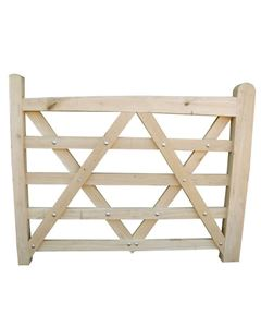 Solid European Oak Field Gate. Available in different sizes from Venables Brothers Ltd.