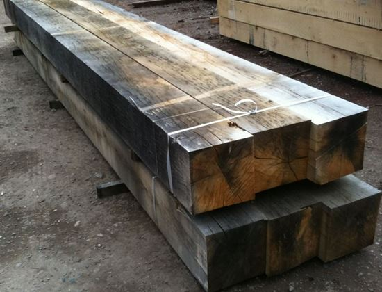 Air Dried Oak Beam in Venables Brothers Yard