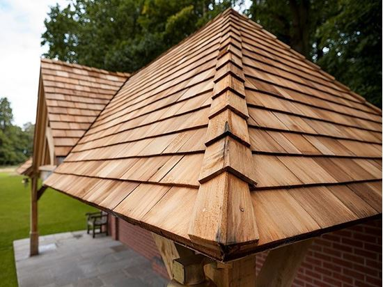 Cedar Shingles roof project by Venables Brothers. Sustainable roof product
